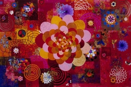 BEATRIZ MILHAZES, Phebo, 2004, Acrylic on canvas 78 5/8 x 118 1/8 inches