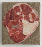 , HELENE APPEL Beinscheibe, 2014 Encaustic and oil on linen 6 11/16 x 5 15/16 in. (17 x 15.2 cm)