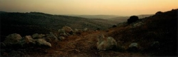 The Road to Emmaus, near Jerusalem, 2000, C-print, 70 1/8 x 176 inches