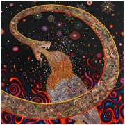 , FRED TOMASELLI Penetrators (Large), 2012 Photo-collage, acrylic, resin on wood panel 72 x 72 inches
