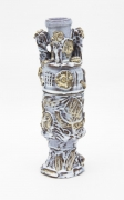 , Three Ships Amphora, 2009, Glazed earthenware, 12 1/4 x 4 x 4 in.