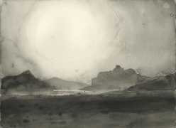 SHI ZHIYING 石至莹The Desert of Jordan 约旦沙漠, 2013 Watercolor on paper 12 1/16 x 16 in. (31 x 41 cm)