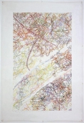 INGRID CALAME #229 Drawing (Tracings up to the L.A. River placed in the Clark Telescope Dome, Lowell Observatory, Flagstaff, AZ), 2006