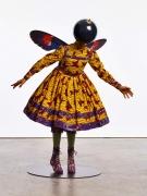 , YINKA SHONIBARE, MBEButterfly Kid (girl),2015Fiberglass mannequin, Dutch wax printed cotton textile, silk, metal, globe and steel baseplate49 3/16 x 41 5/16 x 29 7/8 in. (125 x 105 x 76 cm)