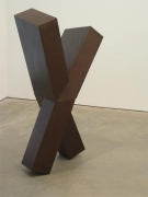 JOEL SHAPIRO, Untitled, 1989, bronze, 58 x 23 x 23 3/4 inches
