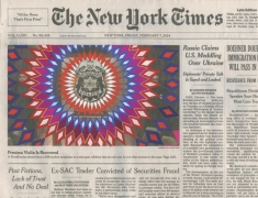 , FRED TOMASELLI Feb. 7, 2014, 2014 Gouache and archival inkjet print on watercolor paper 8 1/2 x 11 in. (21.6 x 27.9 cm)