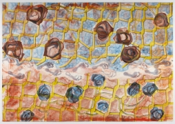 , FRANCESCO CLEMENTE First of the Three, 2011 Watercolor on paper 73 x 104 1/8 in. (185 .4 x 264.5 cm)