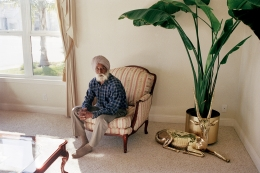 GAURI GILL, Kundan Singh in his son's home. Yuba City 2001, from the series The Americans