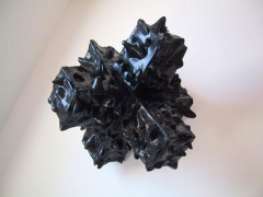 6 Black Bins (Small), 2003, plastic, 70 x 70 x 70 inches