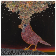, FRED TOMASELLI After Nov. 19, 2013, 2014 Photo-collage, acrylic, and resin on wood panel 60 x 60 in. (152.4 x 152.4 cm)