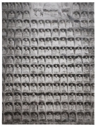 SHI ZHIYING 石至莹 Rock Carving of Thousand Buddhas 千佛石刻, 2013 Oil on canvas 94 3/16 x 70 5/16 in. (240 x 180 cm)