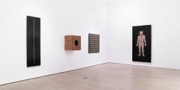 , Gallery 2.2 (l-r): Big as Me, Box for Your Head, Black and White All Over and Naked From the Inside