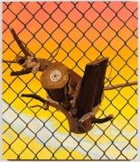 , ALISON ELIZABETH TAYLOR Brooklyn Navy Yard, 2013 Wood veneer, shellac and oil on panel 36 x 30 x 3/4 in. (91.4 x 76.2 x 1.9 cm)