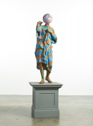 Fiberglass sculpture with hand-painted Ducth wax pattern