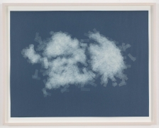 , SPENCER FINCH, Cloud (cumulus fractus, Brooklyn), 2014, Scotch tape on paper, 19 3/4 x 25 1/2 in. (sheet) 21 5/8 x 27 1/2 in. (framed)