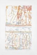 INGRID CALAME英格丽•卡兰 #321 Drawing (Tracings from ArcelorMittal Steel, Buffalo, NY) 绘画321号(从纽约水牛城阿塞洛-米塔尔钢铁得到描图),2008