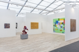 Installation view, James Cohan at Frieze New York, May 1 - 5, 2019