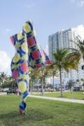 , Yinka Shonibare, MBE'sWind Sculpture IV Installed at Art Basel Miami Beach's Public exhibitionFieldwork