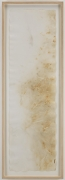 , JOHN CAGE River Rocks and Smoke, 4/13/90, #19, 1990 Watercolor on Arches cold press paper prepared with fire and smoke 52.5 x 15 inches (133.3 x 38.1 cm) Courtesy of Margarete Roeder Gallery and the John Cage Trust