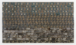 , ELIAS SIMETightrope 6.A,2009-14 Reclaimed electrical wires on panel75 ½ x 133 in. (192 x 338 cm)