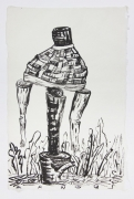 , Woven Body, 1989, Ink on mulberry paper, 17 x 12 1/2 in.