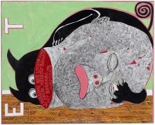 TRENTON DOYLE HANCOCKWaiting2012 Acrylic and mixed media on canvas 30 x 24 1/2 in.