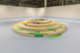 Installation view:Landscape with Circles,Art Basel Unlimited, Basel, Switzerland, 2015
