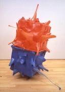 Beta (Orange/Blue) 2000, Plastic, 64 x 61 x 45 inches