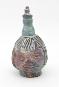 , Pinky Face,2009,Glazed earthenware,9 1/4 x 4 3/4 x 4 1/2 in. including lid