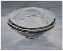 SHI ZHIYING 石至莹Shadowy-Blue Porcelain Dish 景德镇影é'盘, 2013 Oil on canvas 16 3/16 x 20 1/8 in. (42 x 52 cm)