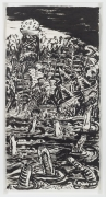 , Pymatuming,2000,Ink on mulberry paper,56 1/4 x 28 1/4 in.