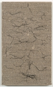 , HELENE APPEL Black Thread Stitches, 2013 Acrylic on linen 14 9/16 x 9 in. (37 x 22.9 cm)