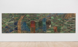 , ELIAS SIME Tightrope 9,2009-14 Reclaimed electronic components on panel39 5/16 x 236 3/16 in. (100 x 600 cm)