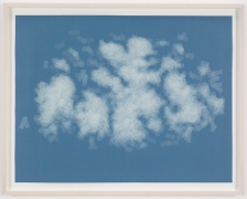 , SPENCER FINCH, Cloud (cumulus congestus, Spain), 2014, Scotch tape on paper, 19 3/4 x 25 1/2 in. (sheet) 21 5/8 x 27 1/2 in. (framed)