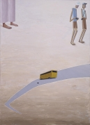 , MERNET LARSEN, Flat Tire, 2010 , Acrylic on canvas, 60 x 43 in., 152.4 x 109.2 cm