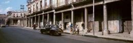 The Black Car, Havana, 1998, C-print, 39 1/2 inches x 94 inches