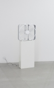 , SPENCER FINCH Wind (through Emily Dickinson's window, August 14, 2012, 3:22pm), 2012 Fan, dimmer, LAN box, Dimensions variable