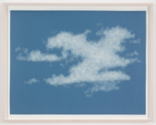 , SPENCER FINCH, Cloud (cumulus humilis, California), 2014, Scotch tape on paper, 19 3/4 x 25 1/2 in. (sheet), 21 5/8 x 27 1/2 in. (framed)