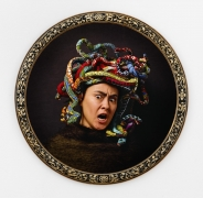 , YINKA SHONIBARE MBE Medusa East, 2015 Digital chromogenic print, bespoke wood frame Framed diameter: 44 7/8 in. (113.98 cm) Edition of 5-