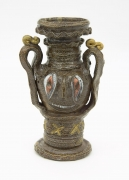 , Jacky Amphora, 1993, Salt and luster glazed stoneware, 9 1/4 x 5 1/2 x 4 1/2 in.