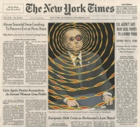 , FRED TOMASELLI Nov. 9, 2011, 2013 Gouache, collage, and archival inkjet print on watercolor paper 10 3/4 x 12 in. (27.3 x 30.5 cm)