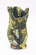 , David and Insect Face Vase, 1982, Earthenware and colored engobes, 9 5/8 x 5 1/4 x 4 1/4 in.