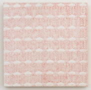 , MICHELLE GRABNER Curtain Sample, 1998 Enamel on panel 15 3/4 x 15 3/4 in. (40 x 40 cm)