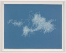 , SPENCER FINCH, Cloud (cumulus humilis, Vermont, 2), 2014, Scotch tape on paper, 19 3/4 x 25 1/2 in. (sheet), 21 5/8 x 27 1/2 in. (framed)