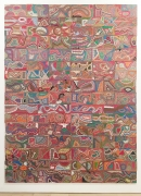 , ELIAS SIMETightrope 5.1,2009-14 Reclaimed electrical wires on panel130 ¼ x 93 ¼ in. (330 x 236 cm)