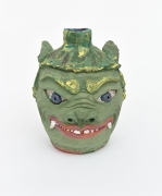 , Green Guardian,2008,Earthenware and colored slips and glazes,16 1/2 x 13 x 13 1/2 in.