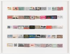 SIMON EVANS ™, Archive of slogans #3 (for Jac Leirner), 2018