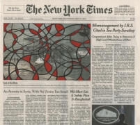 , FRED TOMASELLI May 15, 2013, 2013 Gouache, marker, and archival inkjet print on watercolor paper 10 3/4 x 12 in. (27.3 x 30.5 cm)