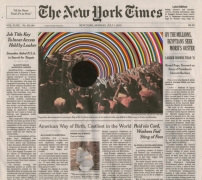 , FRED TOMASELLI July 1, 2013, 2013 Collage, marker, and archival inkjet print on watercolor paper 10 5/8 x 12 in. (27 x 30.5 cm)