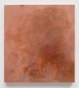 , BYRON KIMPink, 2016 Glue, oil, and pigment on dyed linen26 1/4 x 24 in.